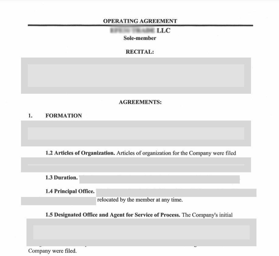 stripe hesap acma operation agreement Operating Agreement Nedir? Tek üyeli LLC'ler İçin Gerekli Mi?