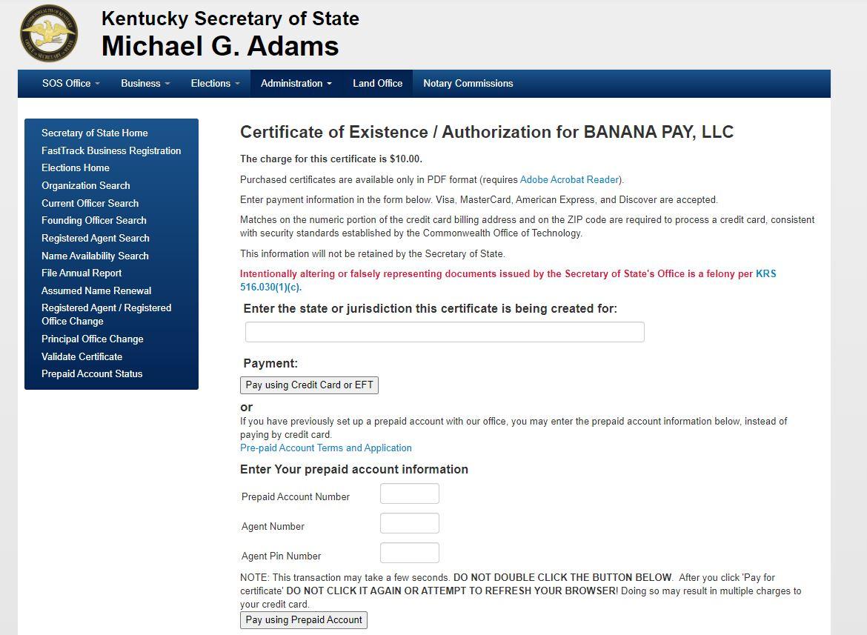 kentucky llc sirket iyi itibar sertifikasi almak 5 Kentucky LLC için İyi İtibar Sertifikası Almak