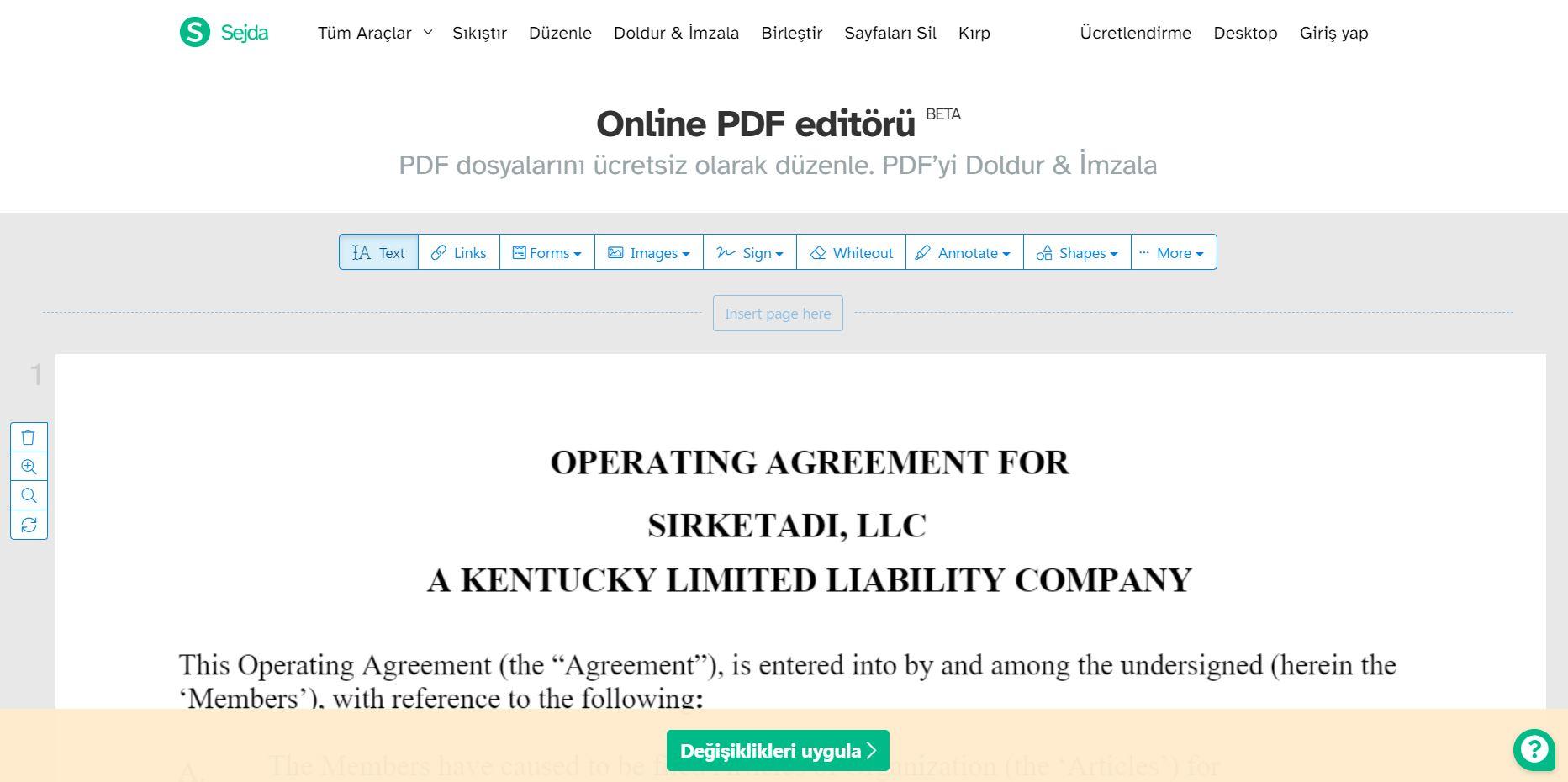 operation agreement hazirlamak Operating Agreement Nedir? Tek üyeli LLC'ler İçin Gerekli Mi?