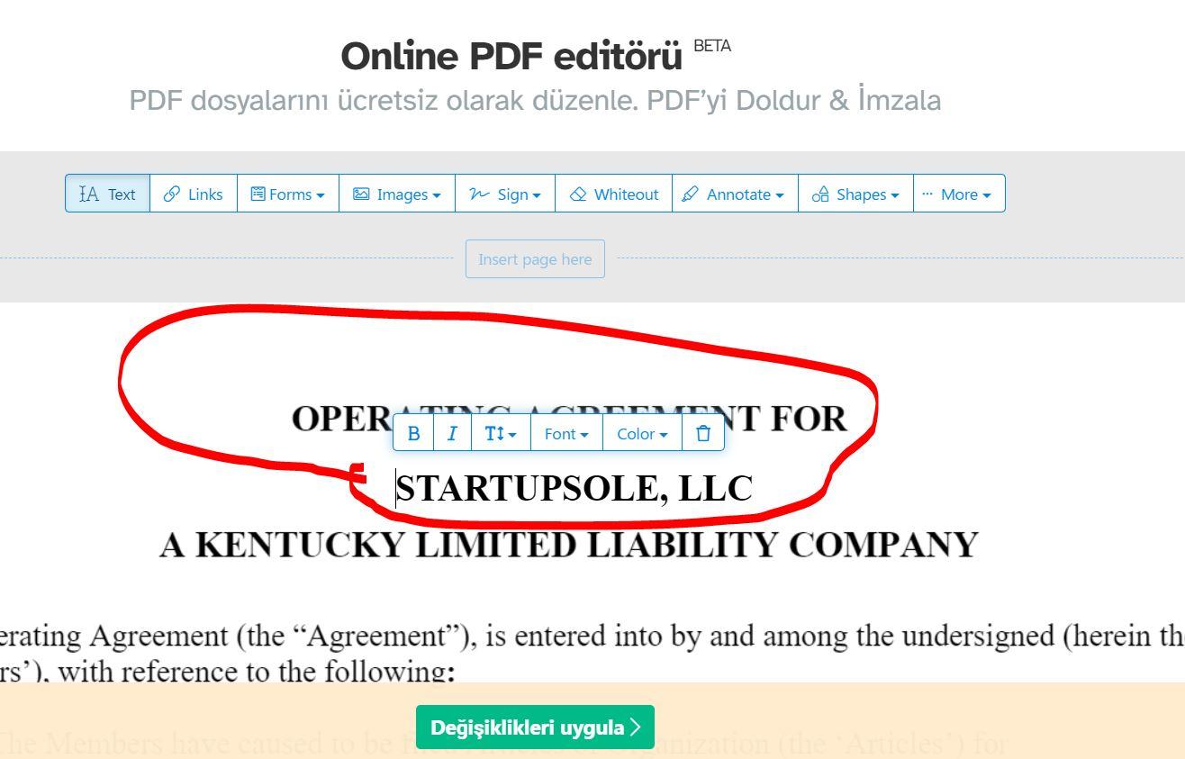 operation agreement nedir 2 Operating Agreement Nedir? Tek üyeli LLC'ler İçin Gerekli Mi?