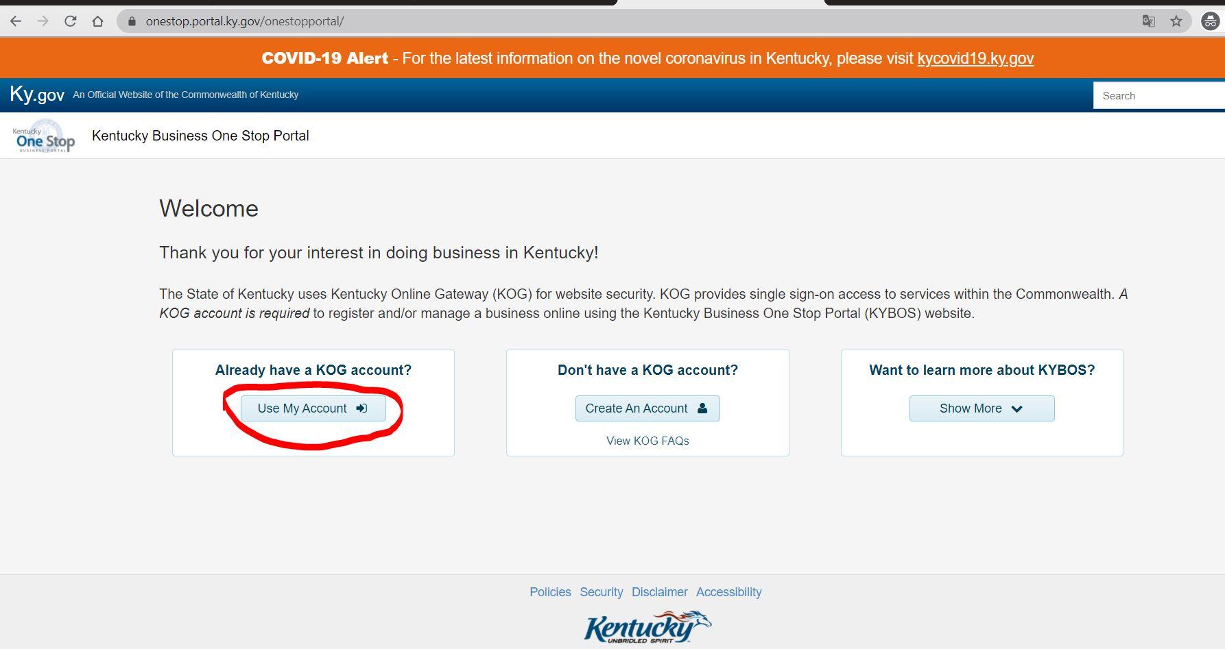 kentucky onestop portal 10 Kentucky LLC'yi One Stop Portal'a Kaydedin
