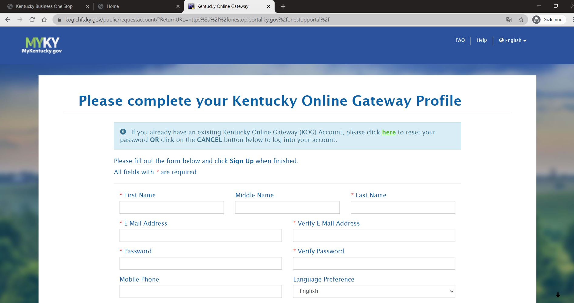 kentucky onestop portal 3 Kentucky LLC'yi One Stop Portal'a Kaydedin