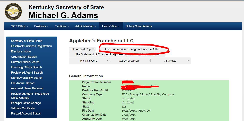 kentucky llc adres degisikligi 3 Kentucky LLC İçin Adres Değiştirme Süreci