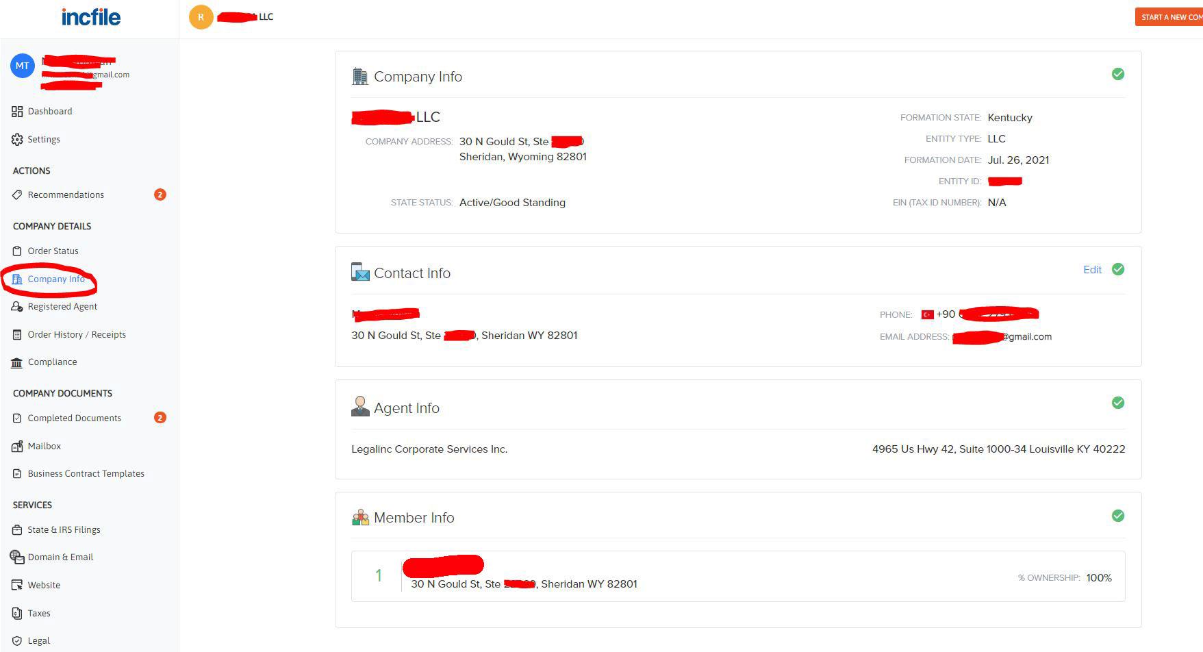 incfile kentucky sirket kurulmus panel 1 Incfile Müşteri Paneli