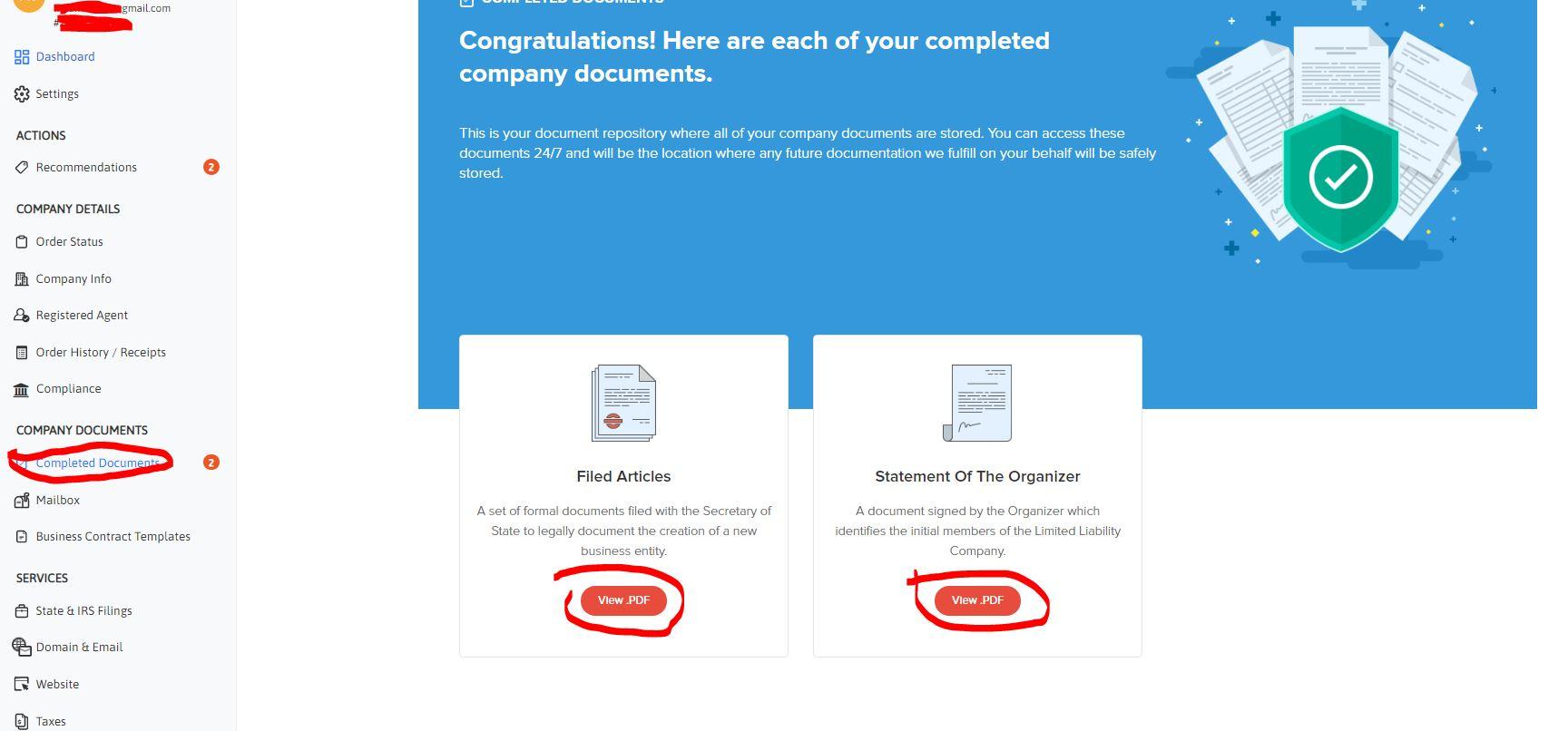 incfile panel kurulum formasyon belgeleri Incfile Müşteri Paneli